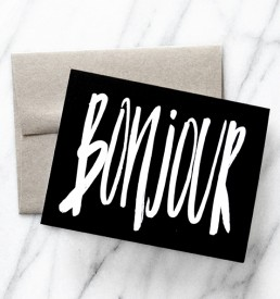 BONJOUR greeting card by Melo and Co.
