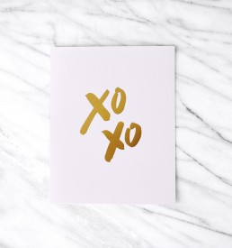 XOXO gold foil art print 8×10 by Melo and Co.