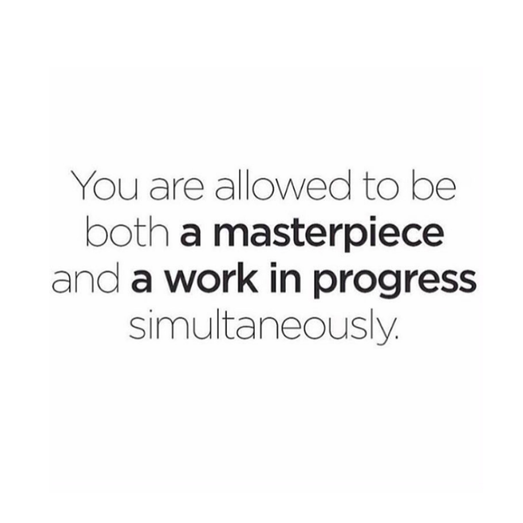 You're a masterpiece & a work in progress | The Red Fairy Project