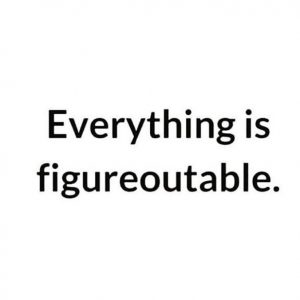 Everything is figureoutable, daily inspiration, quote of the day, inspiring quote, daily quote, quote, inspiration, inspiring, inspire, inspired, quotes, positive quotes, positive quote, positive thinking, motivation, success, happiness, happy, wellness, wellbeing, coaching, wisdom, guidance, personal development, personal growth, self improvement, potential, spiritual, spirit, soul, spirituality, spiritual teacher, compassion, self love, mindful, mindfulness, mindful living, conscious living, conscious, awareness, red fairy project, marie forleo, courage, faith, confidence, perseverance,