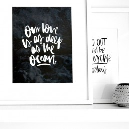 Our love is as deep as the ocean 11x14 art print