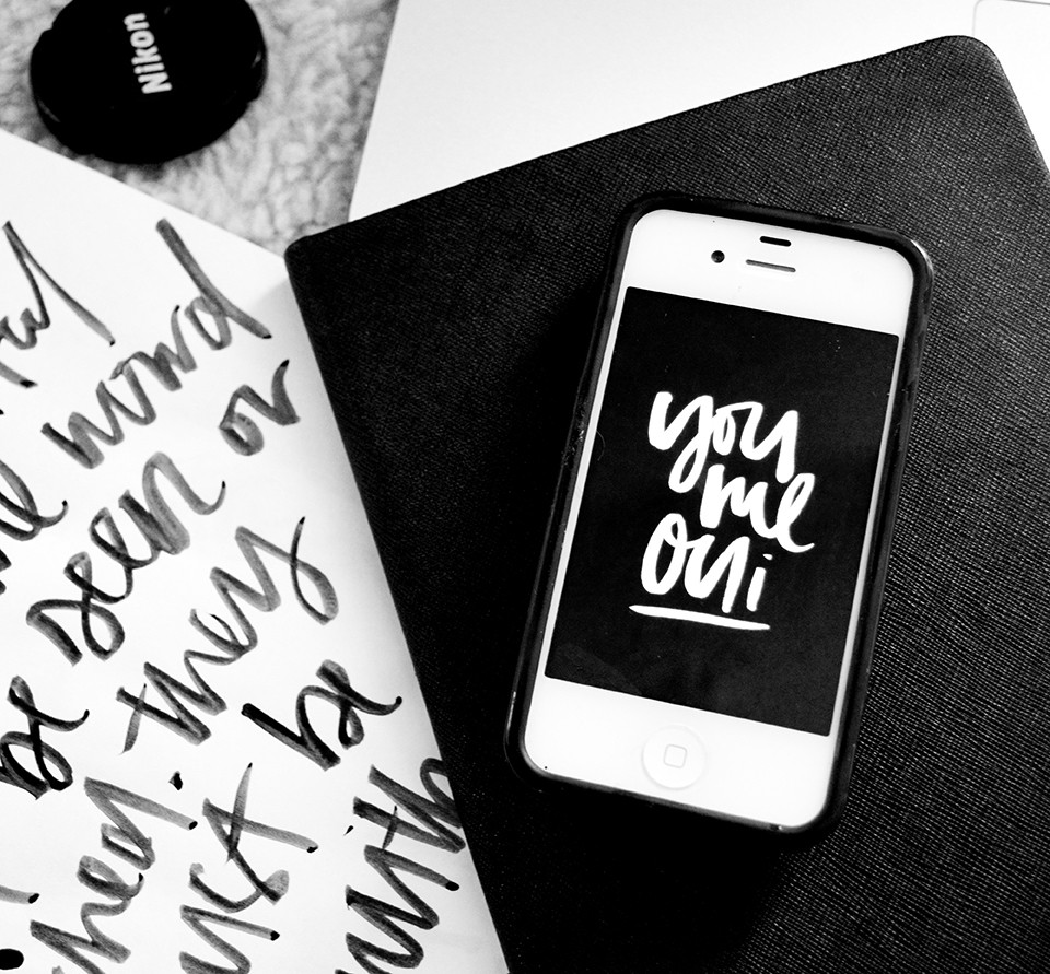 Melo and Co, you and me, you and me oui, wallpaper, download wallpaper, brush lettering,