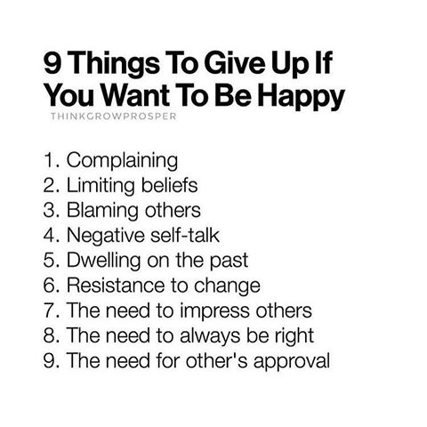 9 Things To Give Up If You Want To Be Happy The Red Fairy Project