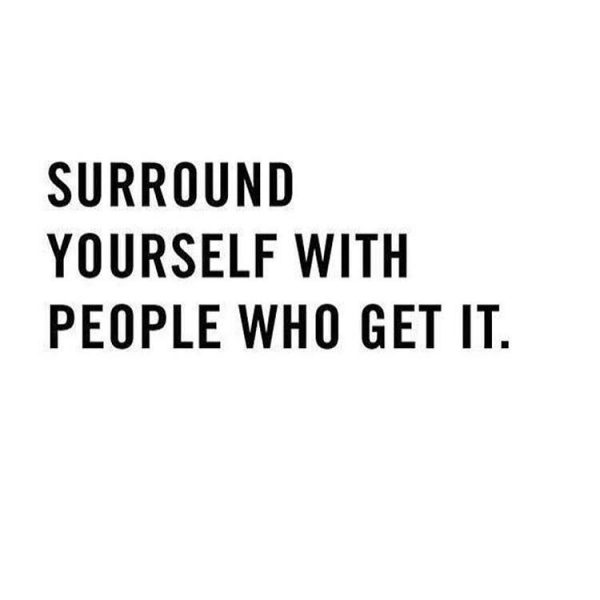 surround yourself with people who get it the red fairy