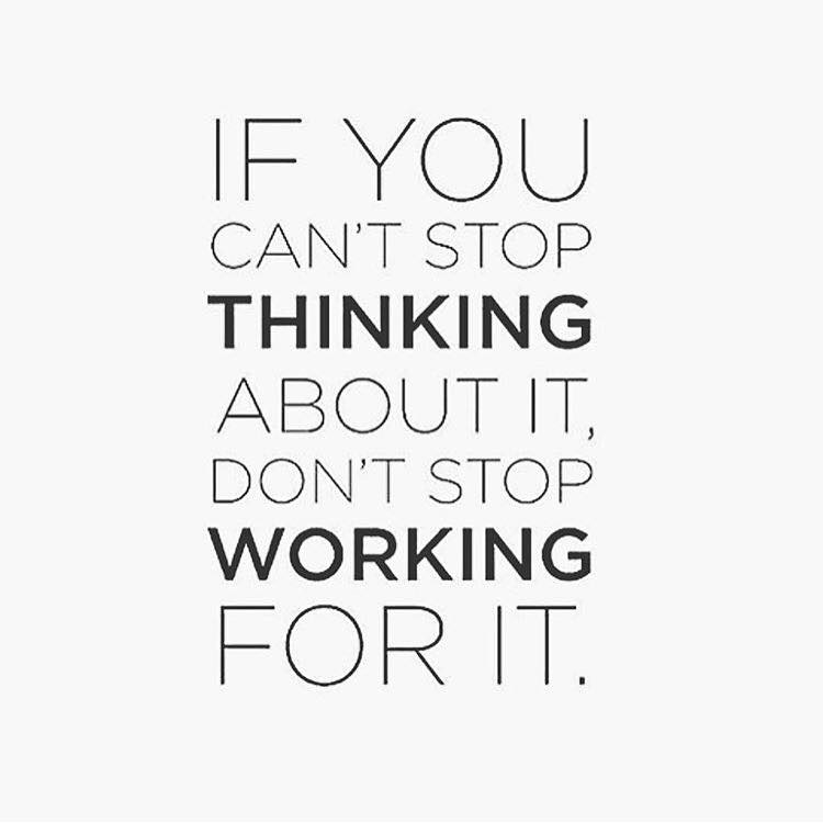 Keep On Working For It