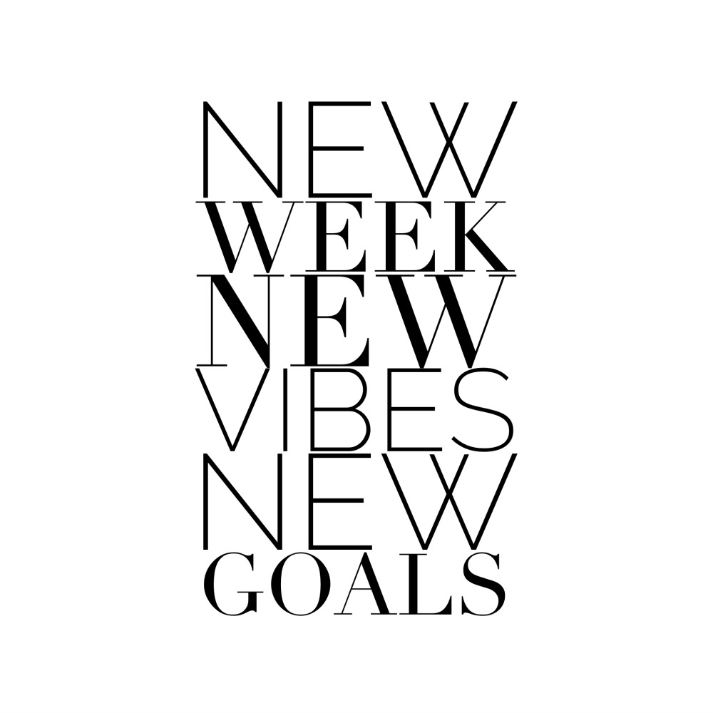new week new vibes new goals the red fairy project