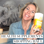 Health supplements shopping haul