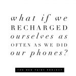 Take time to recharge
