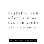 Start by being grateful for the present moment